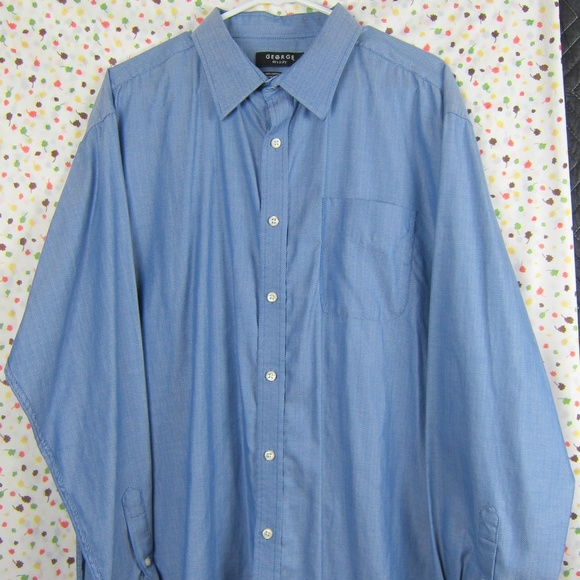 George Other - George Button Shirt Long Sleeve Sz XL